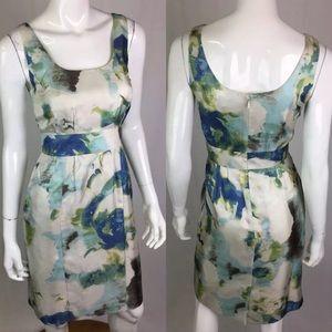 Banana Republic Silk Watercolor Sheath Dress